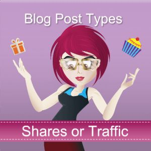 shares or traffic from blog posts
