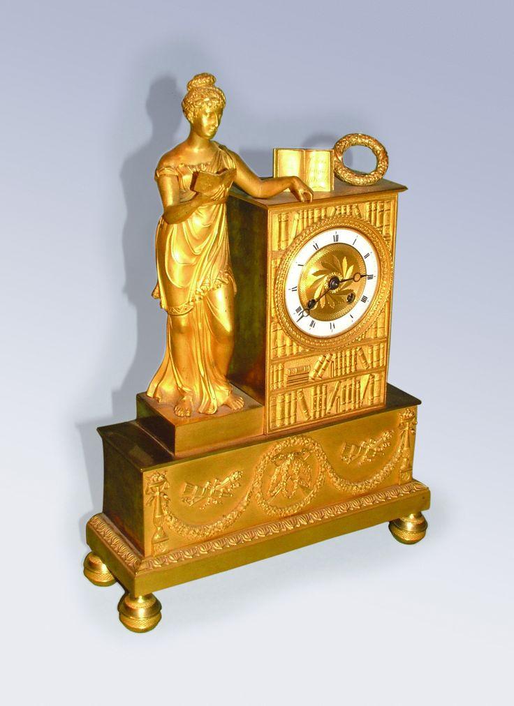 Antique French Empire ormolu Mantle Clock