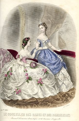 Mode 1862 fashion plate.  The figure on the right looks like Meg when she's made over at Vanity Fair.