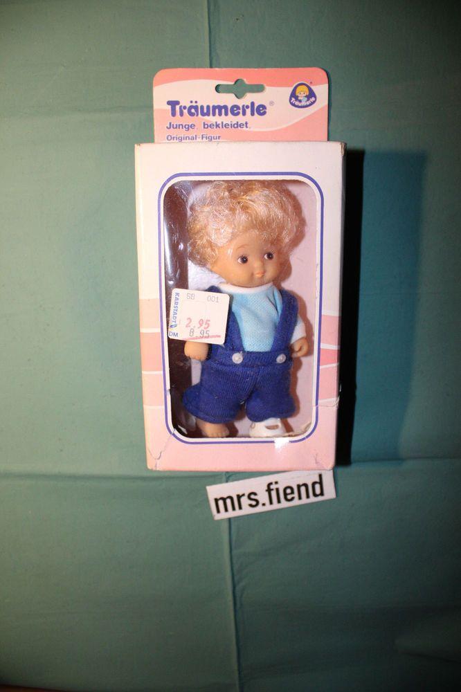 Träumerle Figur Junge blond,bekleidet Europlay 70er-80er Jahre original verpackt
