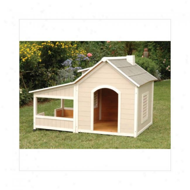 large gable porches | savannah large dog houe with porch proconcepts outback savannan large ...