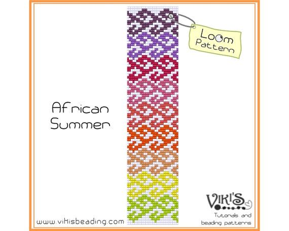 Bead Loom Pattern: African Summer - INSTANT DOWNLOAD pdf - Buy 2 Get 1 free with coupon codes -  bl265