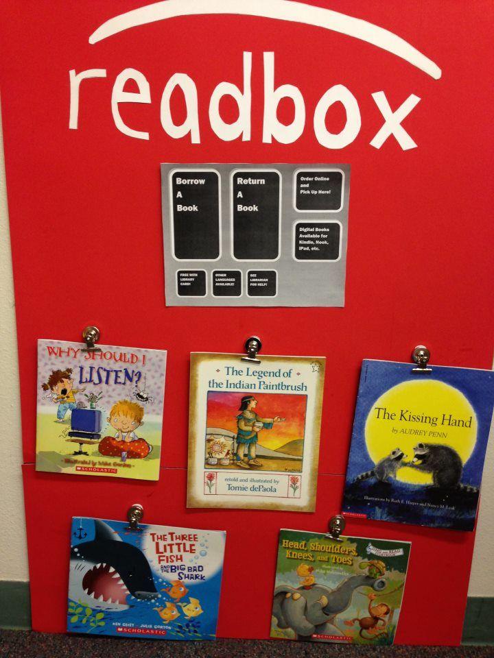 Super cute book display idea!  Credit: YDI Head Start in Albuquerque, NM