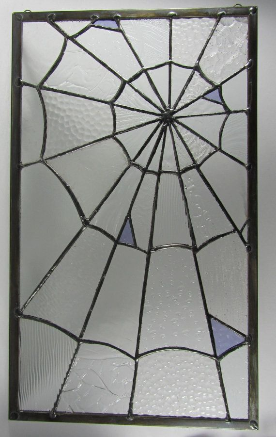 Stained Glass Spider Web Panel $135.00