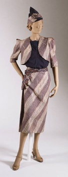 Mamde Marge', Sarong Dress, the most successful ensemble from the Batik collection, 1936-1937. 1953-95-1a--e Philadelphia Museum of Art.