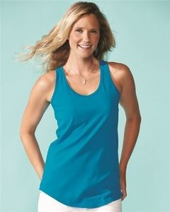 The Next Level 1533 is a Women's Ideal Racerback tank top made of a 60/40 blend of combed ringspun cotton and polyester. It has a tear away label and is fabric laundered. <br><br>- Weight: 3.9 oz<br>- 60/40 combed ringspun cotton/polyester, 30 singles<br>- Self-fabric binding