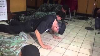 Fidel V. Ramos does 31 push-ups