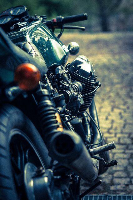 The perfect angle: a Moto Guzzi Le Mans Mk I.