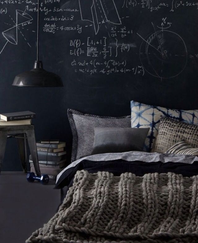 Bachelor pad// aside from tht i need the chalk board wall in my condo.