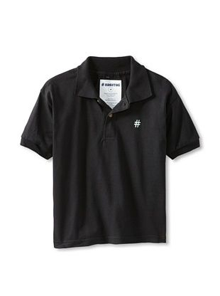 76% OFF Lunchbox Kid's Short Sleeve Polo Tee (Black)