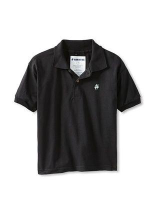 76% OFF Lunchbox Kid's Short Sleeve Polo Tee (Black)