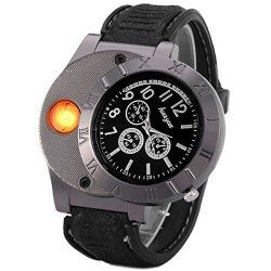 Men Digital USB Lighter Watch | I Crave Gadgets!