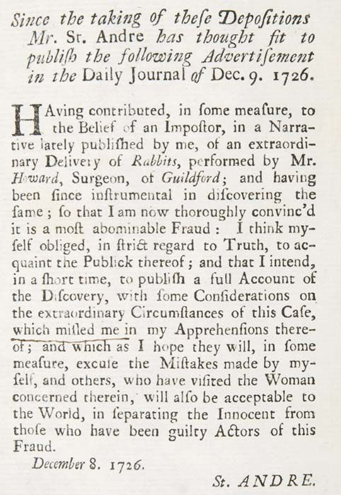 Mary Toft and Her Extraordinary Delivery of Rabbits | The Public Domain Review
