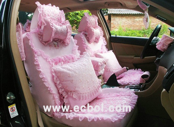 Buy Wholesale Ice Silk Lace Car Seat Covers Cushion Sets