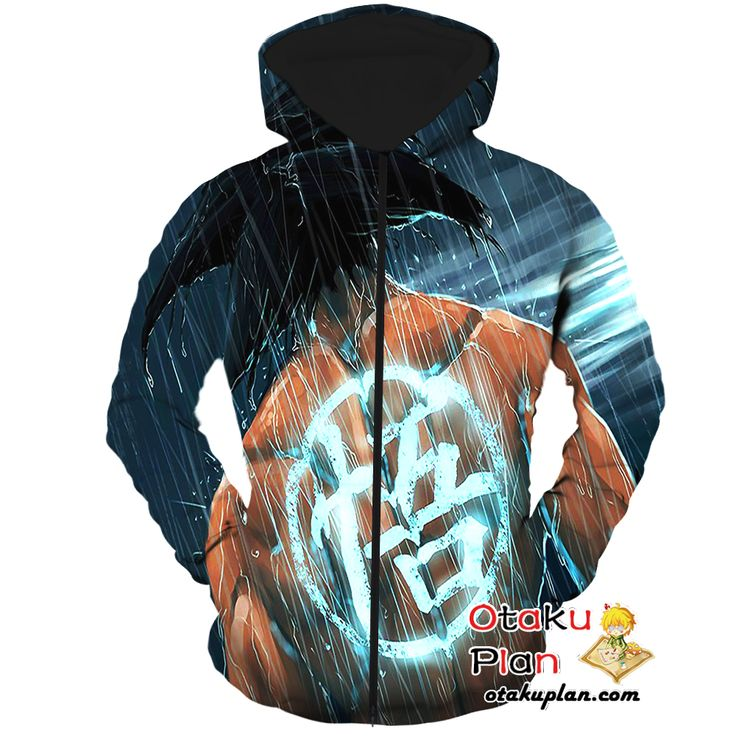 DBZ Goku Marshal Arts Symbol Black Zip Up Hoodie - Dragon Ball Z 3D Zip Up Hoodies And Clothing  #stuff #anime #merchandise #animeart #animeboy #animelover #comic