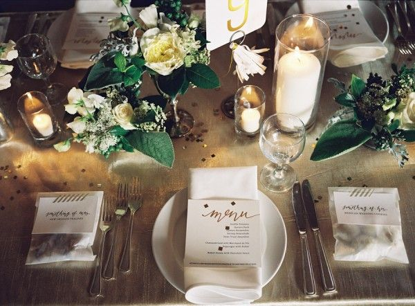 44 best images about wedding table on pinterest for Wedding place settings ideas