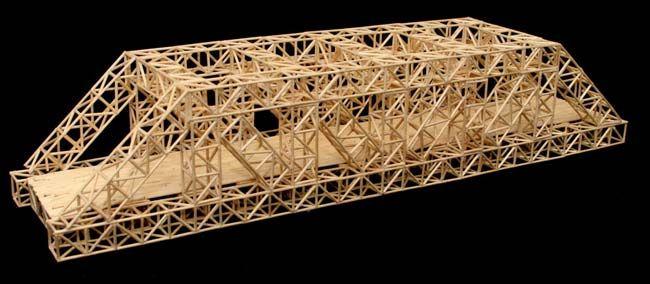 Truss Toothpick Bridge Built Truss Bridges Pinterest