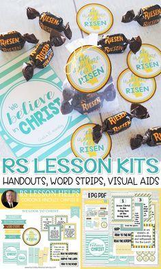 RS Lesson Handouts and Printables - Gordon B Hinckley Lesson 8, Easter Handout, Resurrection, He is Risen Tag #mycomputerismycanvas