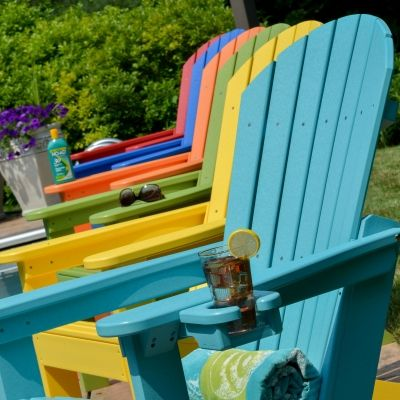 Comfo-Back Resin Adirondack Chair - 18 Colors | Berlin Gardens | SKU: B-PATC2400 | Recycled Plastic | Adirondack Chairs