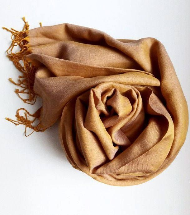 Spring Golden Scarf. Viscose scarf, silk scarf. Viscose fabric scarf. by VUGASHOP on Etsy