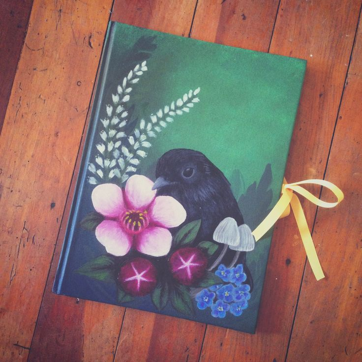 Creative journal hand stitched and painted