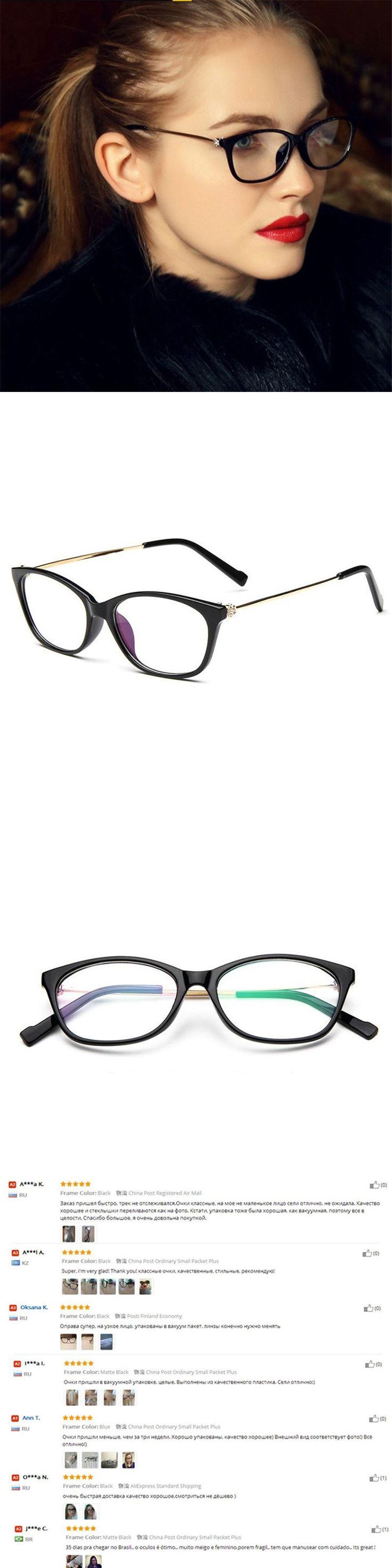 Brand Design Grade Diamond Eyeglasses Female Eyewear Frames Eye Glasses Frames For Women Ladies degree Optical eyeglass frame