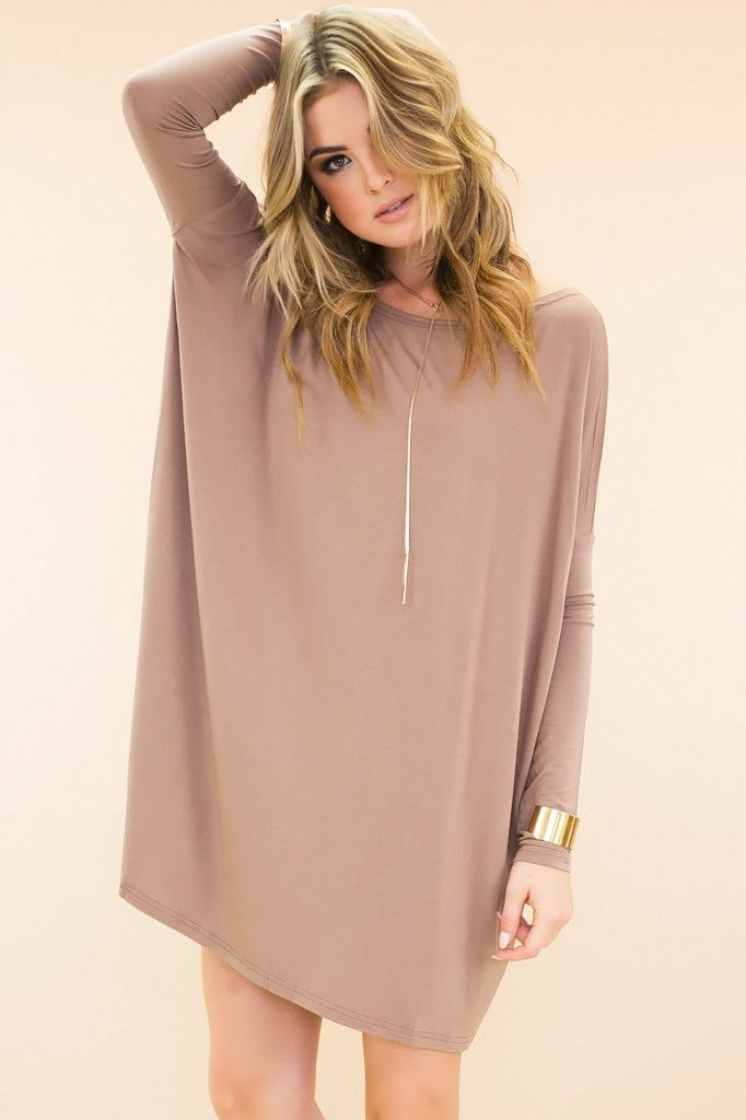 Long Sleeve Mocha Dress