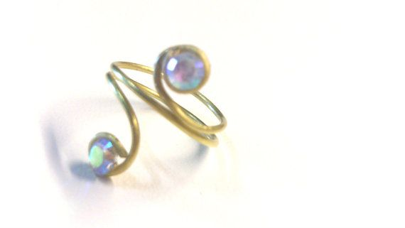 Knuckle Ring double round from Gold Plated Wire with by bizeli, €7.00