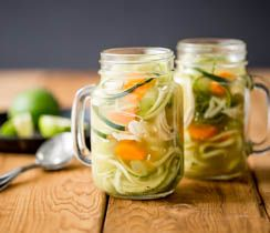 Zucchini noodles = zoodles! This is a delicious, easy fix for whatever ails you.