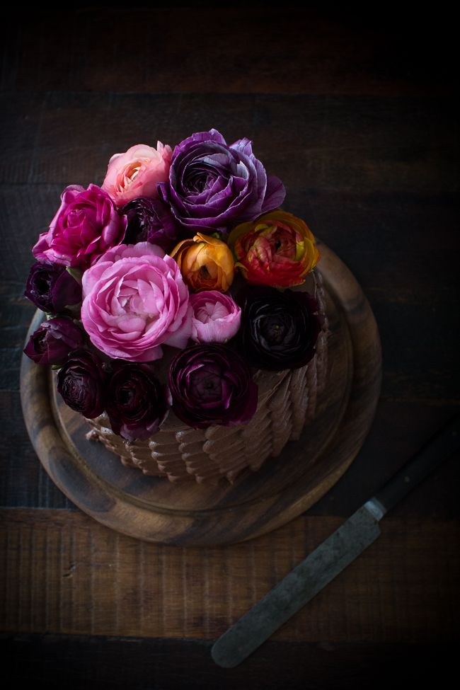 Three Layer Chocolate Cake with Chocolate Ganache filling and Chocolate buttercream Frosting  - The Flourishing Foodie