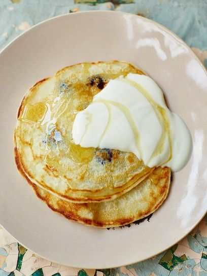 One Cup Pancakes    These are the easiest pancakes to make -- you don't even need scales to weigh your ingredients. All you need is a cup or a mug and you're all set!