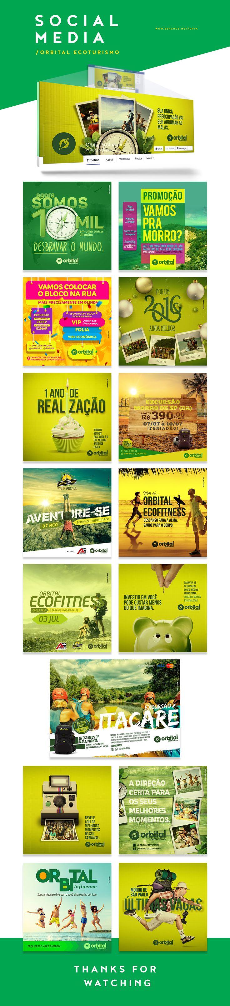 Posts para as redes sociais, Facebook e Instagram, da Orbital Ecoturismo de Aracaju-ES - Social Media on Behance