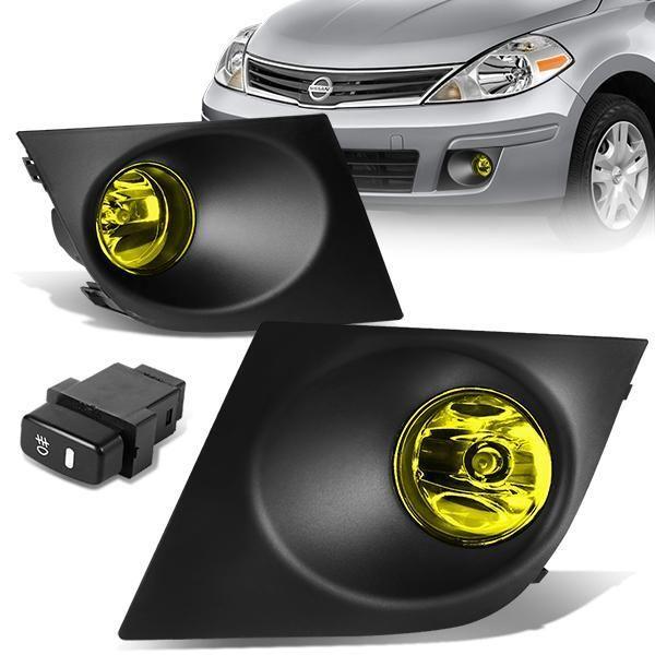 07 11 Nissan Versa Amber Lens Fog Lights W Bezel Switch Bulbs Nissan Versa Nissan Auto Parts Online