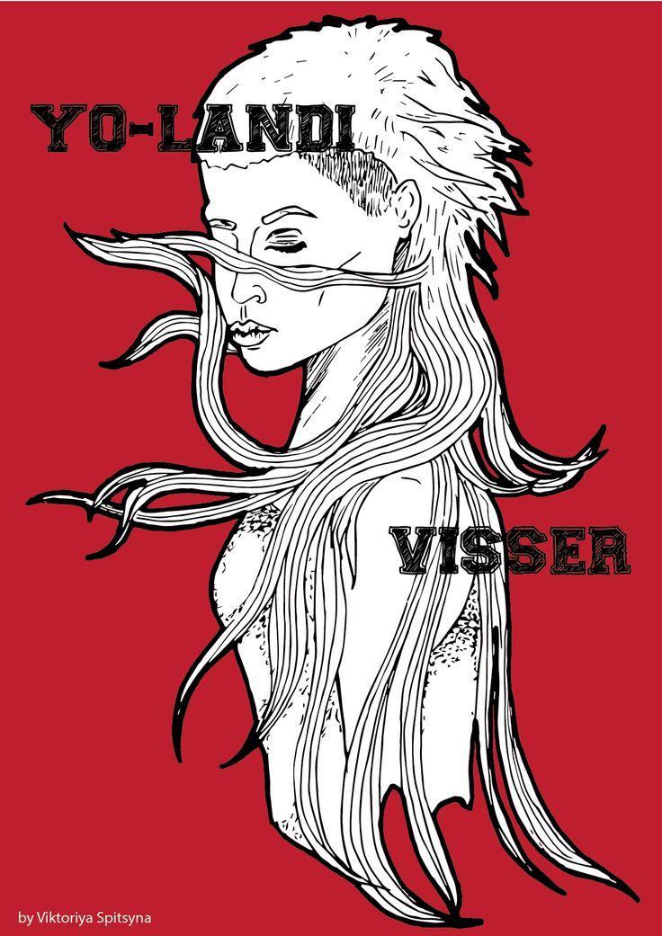 портрет - певица Yo-Landi Visser