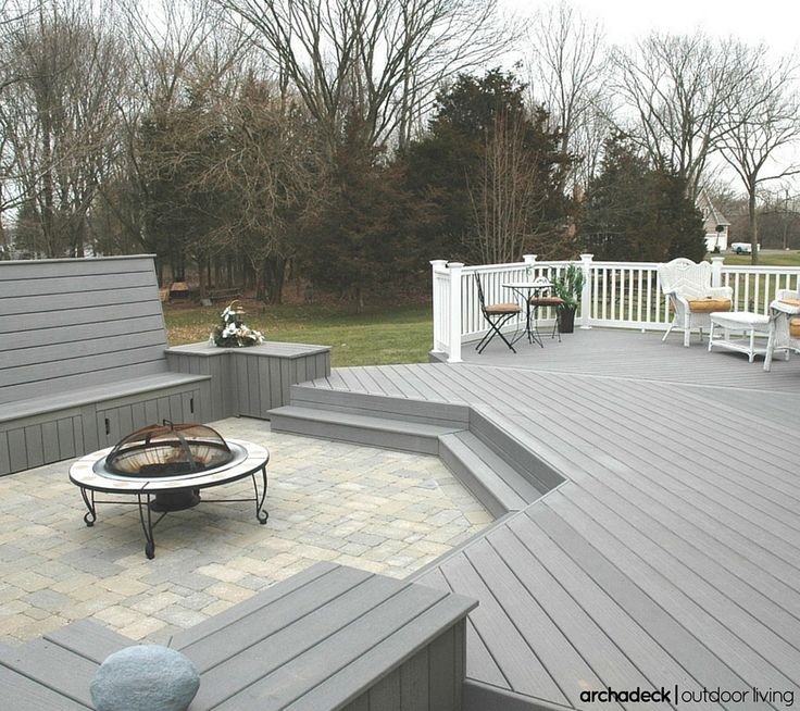 138 best images about composite low maintenance deck for Different patio designs