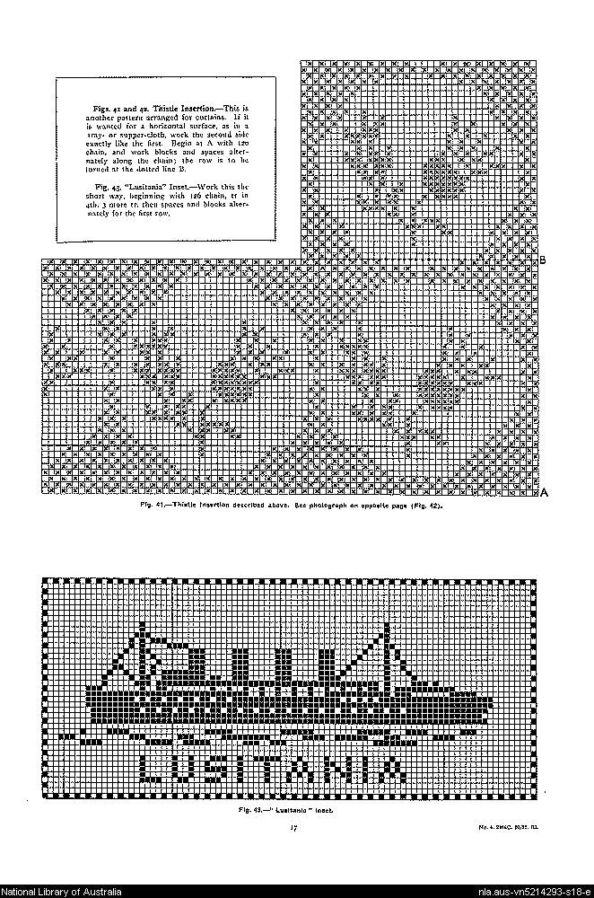 Mary Card's crochet book. no. 4 : containing designs & charts in the new filet crochet for Australian and New Zealand crochet workers.. - Page 17
