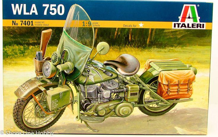 Italeri WLA 750 Military Motorcycle 7401 1/9 New Plastic Model Kit