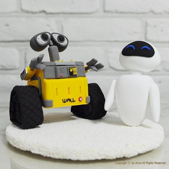 Topo de bolo do Wall-E *__*