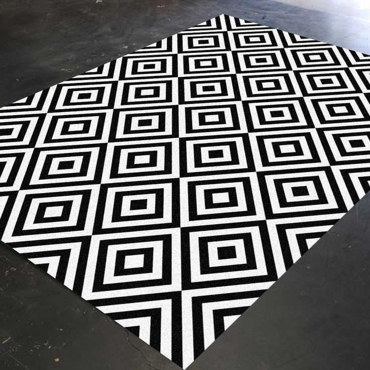 Black And White Rug Geometric Bedroom Living Room Christmas