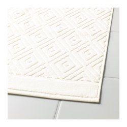 IKEA - FÄLAREN, Fürdőszobaszőnyeg, A dekoratív, szőtt jacquard-minta puhaságot és textúrát ad a fürdőszobai szőnyegnek.Puha, jó nedvszívó képességű, frottír fürdőszobai szőnyeg (súlya 800g/m²).A fésült pamut hosszú, finom szálainak köszönhetően puha és strapabíró.