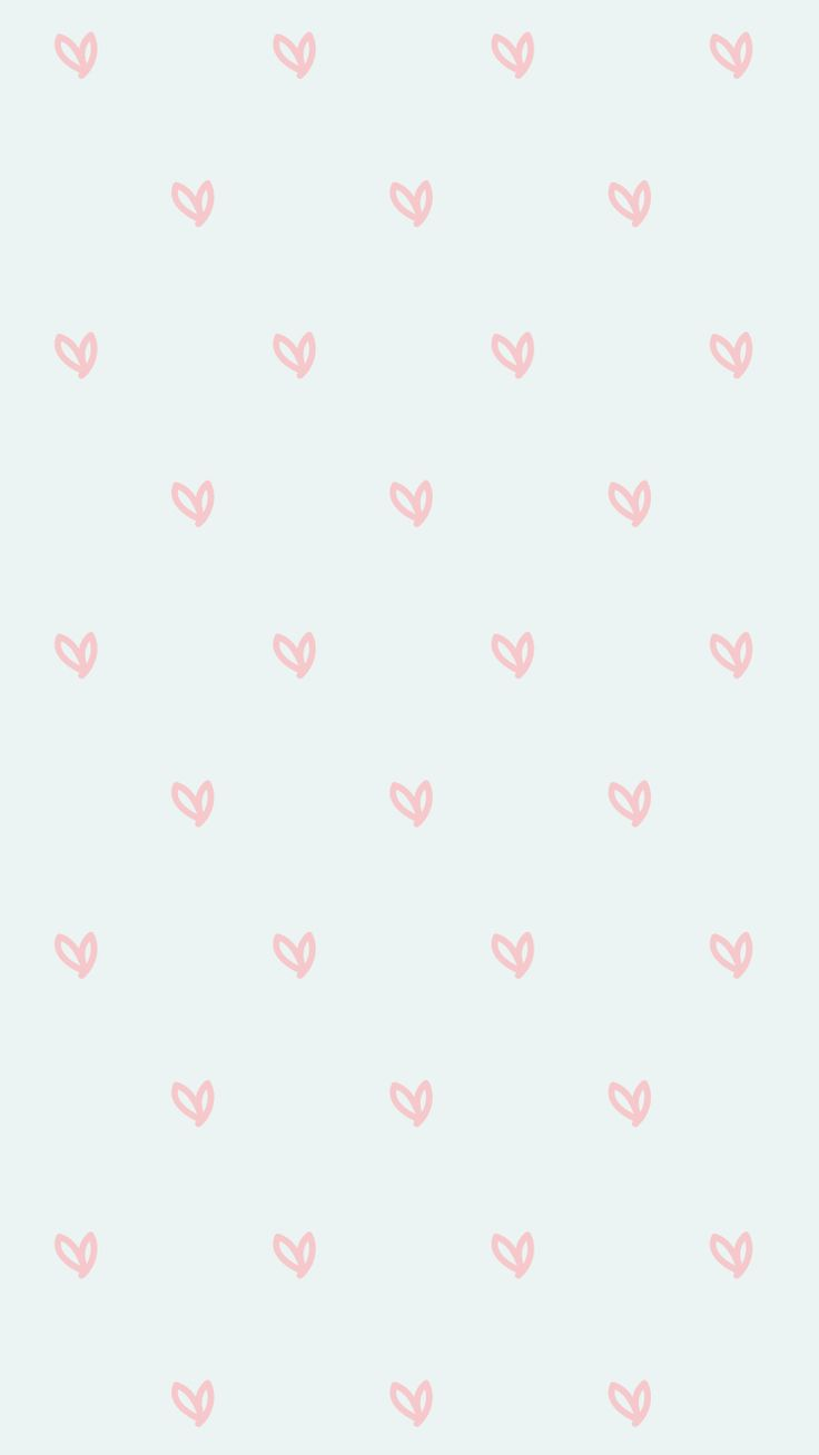 Minimal white blush pink sketch mini hearts iphone phone wallpaper background lock screen