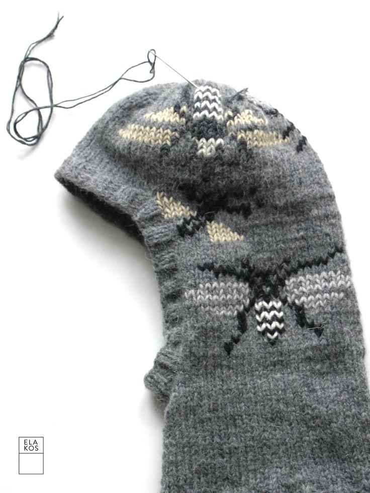 gray ski hat ELA KOS