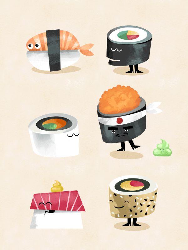 https://www.behance.net/gallery/12414393/The-Secret-Life-of-Sushi