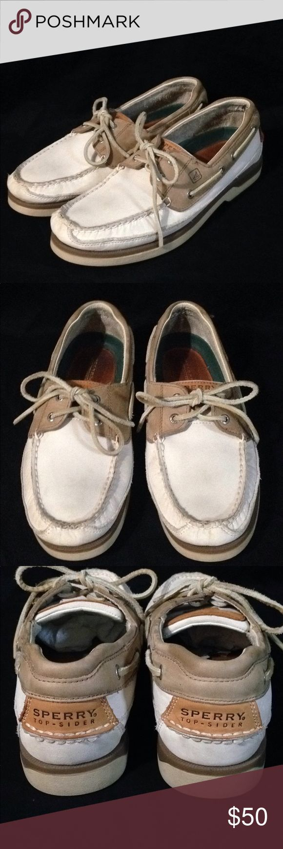 Sperry Top-Sider Men's Mako Collection Shoes These shoes are in excellent used condition. They are a re-Posh. I got them for my husband and he didn't like the light color. Sperry Top-Sider Shoes Boat Shoes