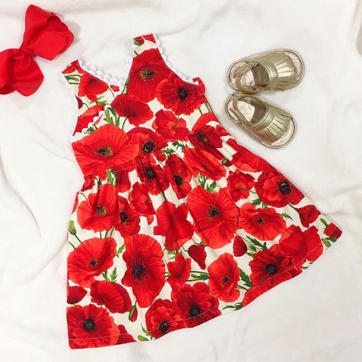 Poppies Bloom Criss Cross Dress www.etsy.com/au/shop/MummyGDub