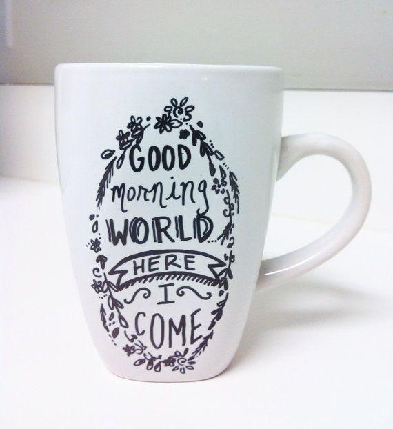 Hand Lettered Coffee Mug