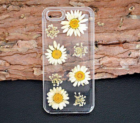 Daisy phone casePressed flower iphone 5C caseDried by UUniquecase