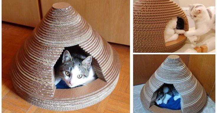 Cómo hacer una casita para gato fácil y económica