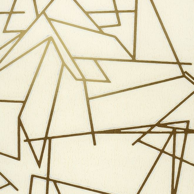 Erica Wakerly Angles cream and gold wallpaper.  Perfect for the backing of my china cabinet.