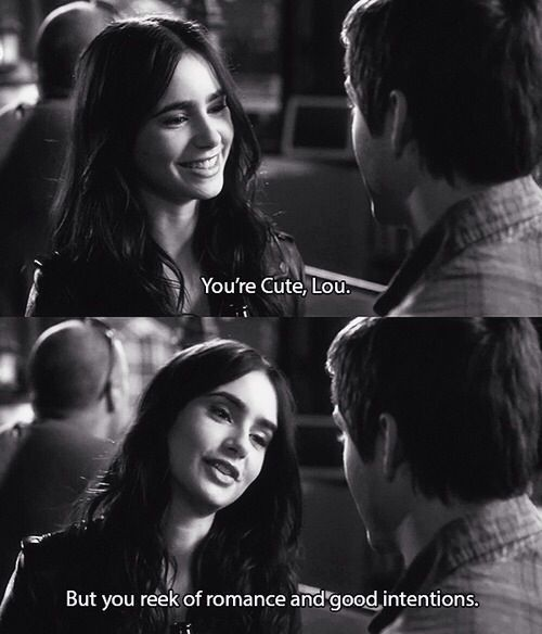 Stuck in love ~ you reek of romance & good intentions...get lost! lol
